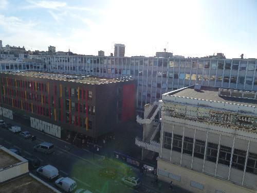 Vue sur la Sorbonne Nouvelle depuis le balcon de Mme Benhamou